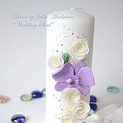 """Свадебный салон ручной работы. Ярмарка Мастеров - ручная работа Свечи """"Домашний очаг"""", орхидеи и розы. Handmade."""