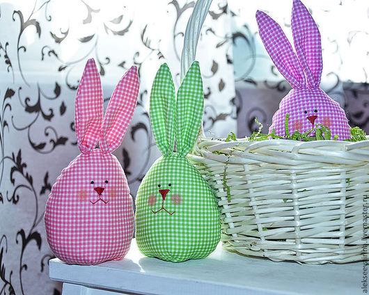 Подарки на Пасху ручной работы. Яйца-зайцы. AlekseevaIrina. Ярмарка мастеров.
