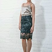 Одежда handmade. Livemaster - original item Pencil skirt made of luxurious fabrics. Handmade.