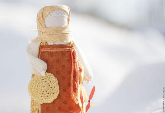 Народные куклы ручной работы. Ярмарка Мастеров - ручная работа. Купить Кукла Масленица домашняя. Handmade. Желтый, традиция, хлопок