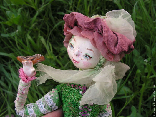 """Коллекционные куклы ручной работы. Ярмарка Мастеров - ручная работа. Купить Кукла """"Грезы об июне"""". Handmade. Кукла, птица"""