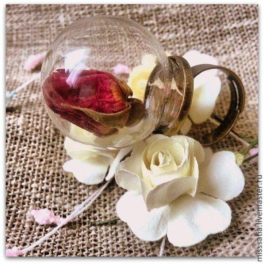 """Кольца ручной работы. Ярмарка Мастеров - ручная работа. Купить Кольцо """"Бутон влюбленной розы"""". Handmade. Бордовый, миниатюра, украшение"""