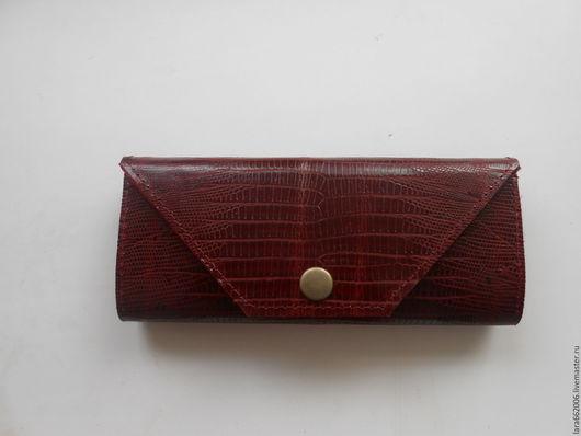 Женский кошелек из итальянской натуральной  кожи бордового цвета,кошелек из кожи, кожаный кошелек, женский кошелек, кошелек ручной работы, красный кошелек, большой кошелек, вместительный кошелек