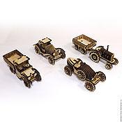 Куклы и игрушки ручной работы. Ярмарка Мастеров - ручная работа Набор ретро-автомобилей. Handmade.