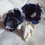 """Украшения ручной работы. Ярмарка Мастеров - ручная работа """"Голубые розы"""" ободок. Handmade."""