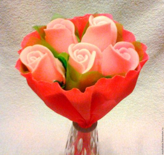 Мыло ручной работы. Ярмарка Мастеров - ручная работа. Купить Мыльный букет Розовые розы. Handmade. Бледно-розовый, подарок