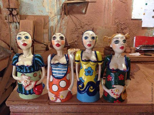 Портретные куклы ручной работы. Ярмарка Мастеров - ручная работа. Купить Скульптура керамическая. Handmade. Французский стиль, портретная кукла