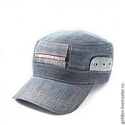 Аксессуары ручной работы. Ярмарка Мастеров - ручная работа Летняя кепка BigRey джинса. Handmade.