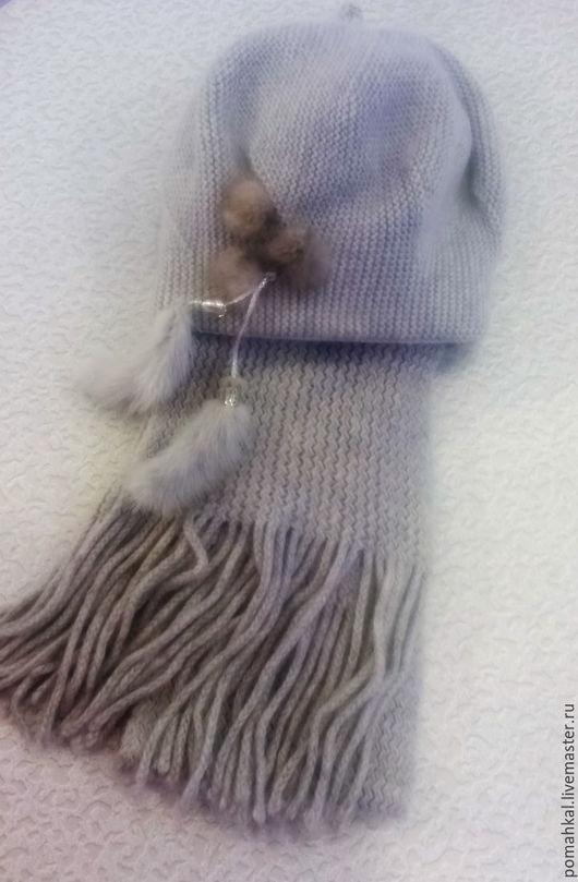 Комплект `Царевна` шапка и шарф Кристина