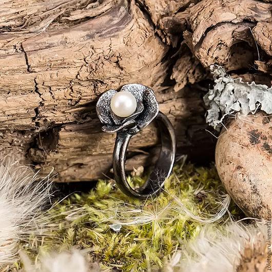 Кольца ручной работы. Ярмарка Мастеров - ручная работа. Купить Кольцо «Черная роза» из серебра. Handmade. Кольцо ручной работы