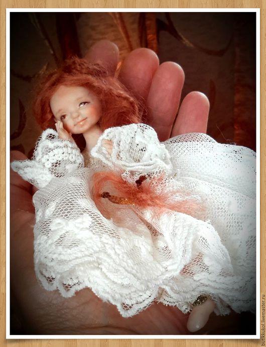 Коллекционные куклы ручной работы. Ярмарка Мастеров - ручная работа. Купить Будуарная куколка из пластика. Handmade. Кукла в подарок, кружево