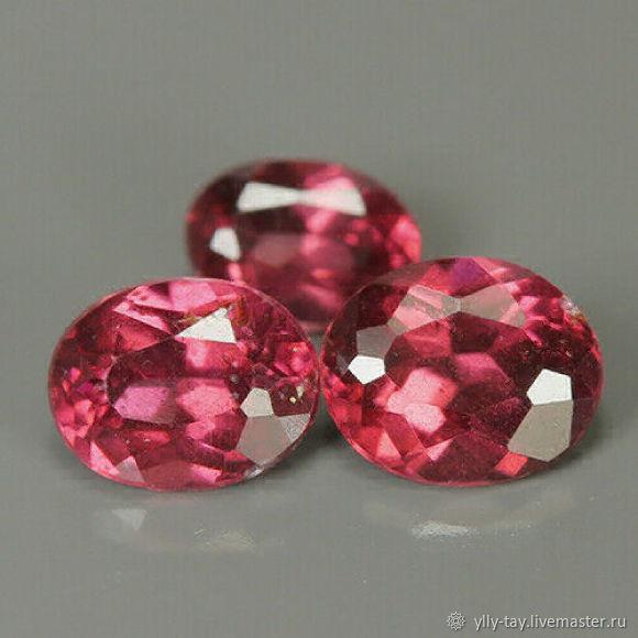 Kids rhodolites 0,97 carats, Cabochons, Pyatigorsk,  Фото №1