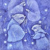"""Картины и панно ручной работы. Ярмарка Мастеров - ручная работа Сказка на ночь. """"Найти лунный колосок"""" Картина в детскую. Handmade."""