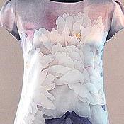 Одежда ручной работы. Ярмарка Мастеров - ручная работа Платье с белыми пионами. Handmade.