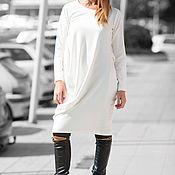 Одежда handmade. Livemaster - original item Loose Women`s Cotton Tunic with Long Sleeves-DR0078PM. Handmade.