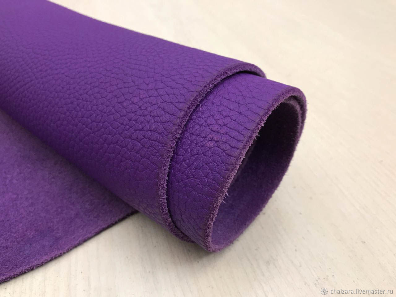 Натуральная кожа 2.0-2.2 мм Violet, Кожа, Оренбург,  Фото №1