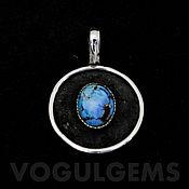 Украшения handmade. Livemaster - original item Pendant with turquoise (Kazakhstan). Pendant with blue stones. Handmade.