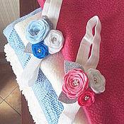 Работы для детей, handmade. Livemaster - original item Headband with flowers of felt. Handmade.