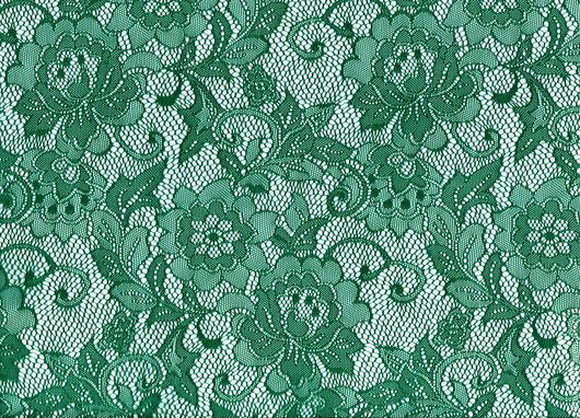 Аппликации, вставки, отделка ручной работы. Ярмарка Мастеров - ручная работа. Купить Гипюр с эластаном HAZ 1356 зеленый. Handmade.
