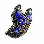 Украшения handmade. Livemaster - original item Pin Brooch: Butterfly FAIRY OF THE NIGHT. Handmade.