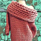 Одежда ручной работы. Ярмарка Мастеров - ручная работа Iceberry, платье-пальто крупной вязки на одно плечо. Handmade.