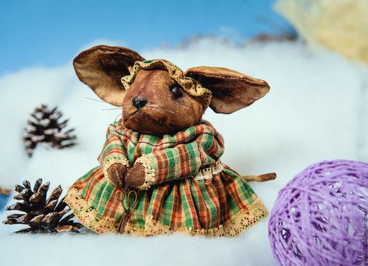 Игрушки животные, ручной работы. Ярмарка Мастеров - ручная работа. Купить Чердачная мышка. Мышка- портнишка.. Handmade. Комбинированный, подарок