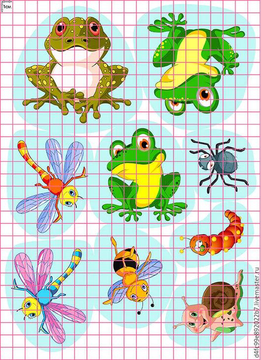 Аппликации, вставки, отделка ручной работы. Ярмарка Мастеров - ручная работа. Купить Бабочки, лягушки, насекомые. Handmade. Разноцветный