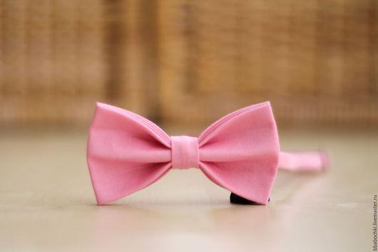 Галстуки, бабочки ручной работы. Ярмарка Мастеров - ручная работа. Купить Бабочка светло-розовая детская/взрослая. Handmade. Бледно-розовый