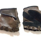 Mitts handmade. Livemaster - original item Leather gloves fingerless, leather gloves for the driver, mitts. Handmade.
