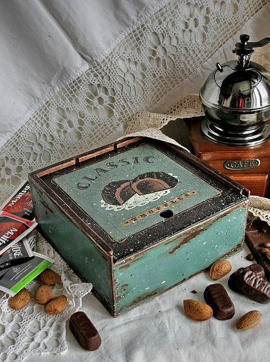 """Кухня ручной работы. Ярмарка Мастеров - ручная работа. Купить чайная шкатулка """"Truffles"""". Handmade. Чайная коробка, дерево"""