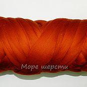 Материалы для творчества handmade. Livemaster - original item Australian merino - 18 mkr - 50g - Rusty, redhead (Rust). Handmade.