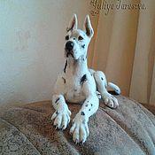 Куклы и игрушки ручной работы. Ярмарка Мастеров - ручная работа Собака валяная Дог. Handmade.