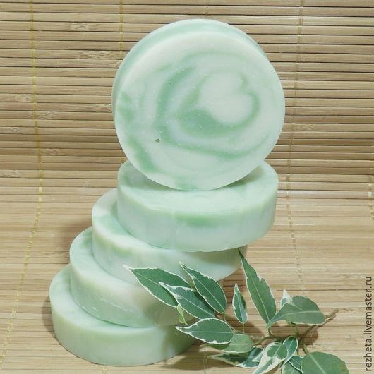 """Мыло ручной работы. Ярмарка Мастеров - ручная работа. Купить Мыло натуральное """"Американка"""". Handmade. Зеленый, натуральное мыло"""