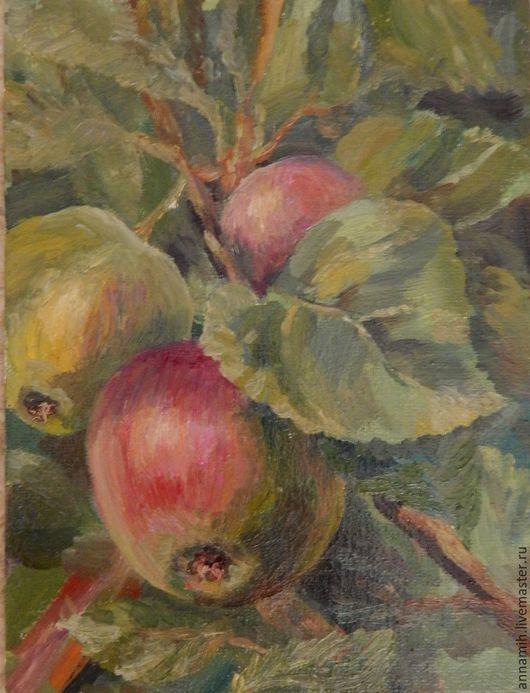 """Картины цветов ручной работы. Ярмарка Мастеров - ручная работа. Купить """"Молодые яблочки"""" картина маслом. Handmade. Картина в подарок"""