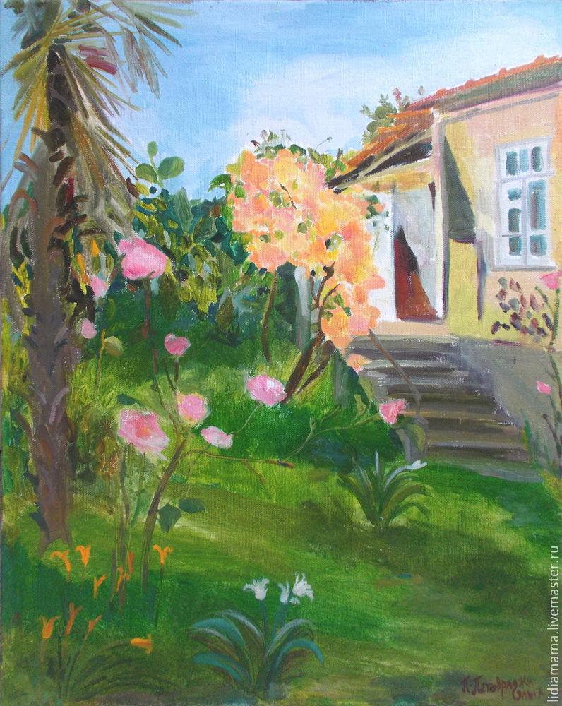 Abkhazia. All in the flowers the artwok by Olga Petrovskaya-Petovraji
