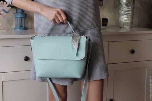 Женские сумки ручной работы. Ярмарка Мастеров - ручная работа. Купить cnic bag маленькая голубая. Handmade. Голубой