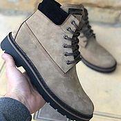 Ботинки ручной работы. Ярмарка Мастеров - ручная работа Мужские ботинки из натурального нубука Обувь ручной работы. Handmade.