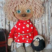 Куклы и игрушки ручной работы. Ярмарка Мастеров - ручная работа Домовенок Кузя:) с вороненком. Handmade.