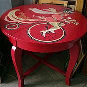 Для дома и интерьера ручной работы. Ярмарка Мастеров - ручная работа стол винтаж ручная роспись. Handmade.
