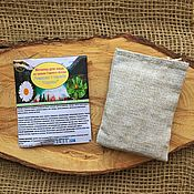 Косметика ручной работы handmade. Livemaster - original item Face washcloth Chamomile and a series of herbs in the Altai Mountains. Handmade.