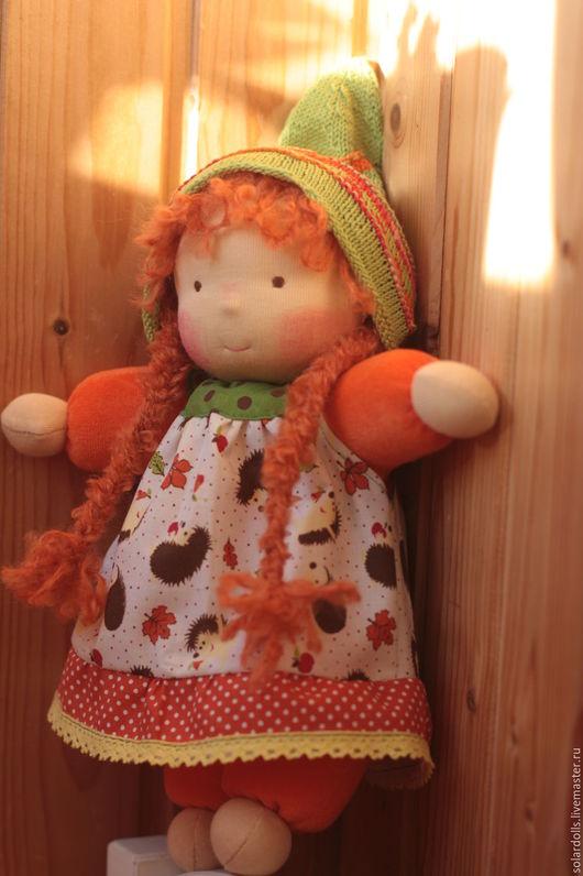 Вальдорфская кукла Лисёнок 33  см .Julia Solarrain (SolarDolls) Ярмарка Мастеров