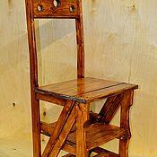 Для дома и интерьера ручной работы. Ярмарка Мастеров - ручная работа Стул-стремянка из массива сосны. Handmade.
