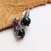 Украшения handmade. Livemaster - original item Earrings with malachite emerald mysterious forest. Handmade.