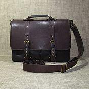 Сумки и аксессуары handmade. Livemaster - original item Men`s leather bag Asterion maxi dark chocolate color. Handmade.