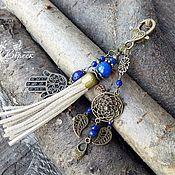 Сумки и аксессуары handmade. Livemaster - original item Hamsa pendant keychain with chalcedony. Handmade.