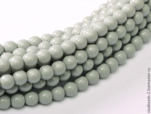 Для украшений ручной работы. Ярмарка Мастеров - ручная работа. Купить Бусины 3мм чешские стеклянные Grey Mist. Handmade.