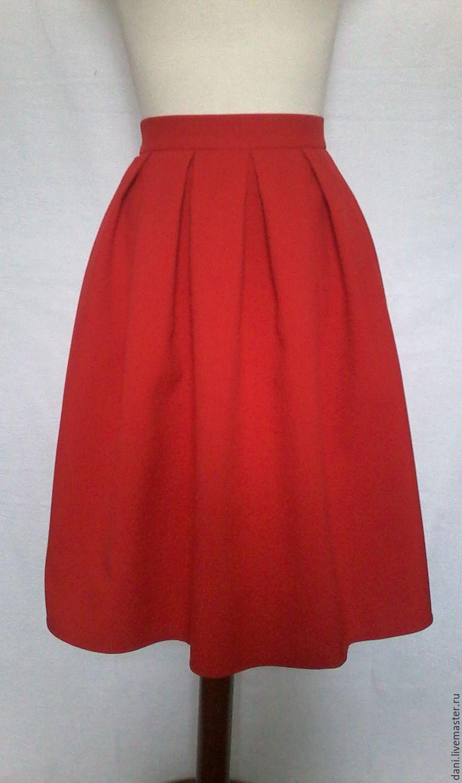 Летняя юбка со встречными складками