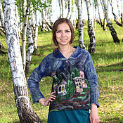 Одежда handmade. Livemaster - original item Felted jacket
