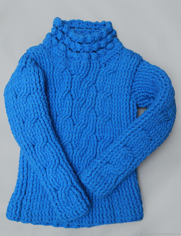 Ярко-синий свитер для холодной зимы, Свитеры, Москва, Фото №1