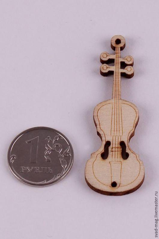 Другие виды рукоделия ручной работы. Ярмарка Мастеров - ручная работа. Купить Скрипка из дерева (5,5х1,8 см). Handmade.